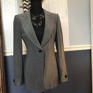 Armani Collezioni Fitted Black & Gray WMS Blazer